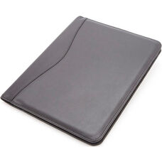 Deluxe Writing Padfolio - Top Grain Nappa Leather - Black