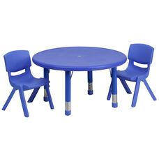 Blue Plastic with Blue Plastic finish