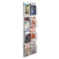 Clear-Vu Magazine and Literature Display - 8 Pockets