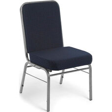 Comfort Class 300 lb. Capacity Stack Chair - Pinpoint Navy Fabric