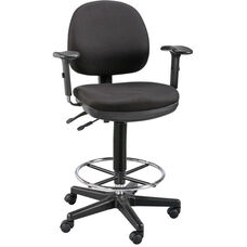 Zenith Adjustable Height Drafting Chair - Black