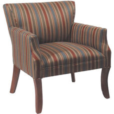 5843 Upholstered Lounge Chair w/ Curved Wood Leg - Grade 1