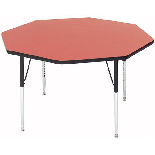 Our Adjustable Height Octagonal Laminate Top Utility Table - 48