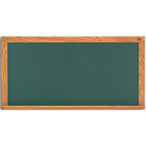 Deluxe Steel-Rite Chalkboard with Wood Trim - 33.5