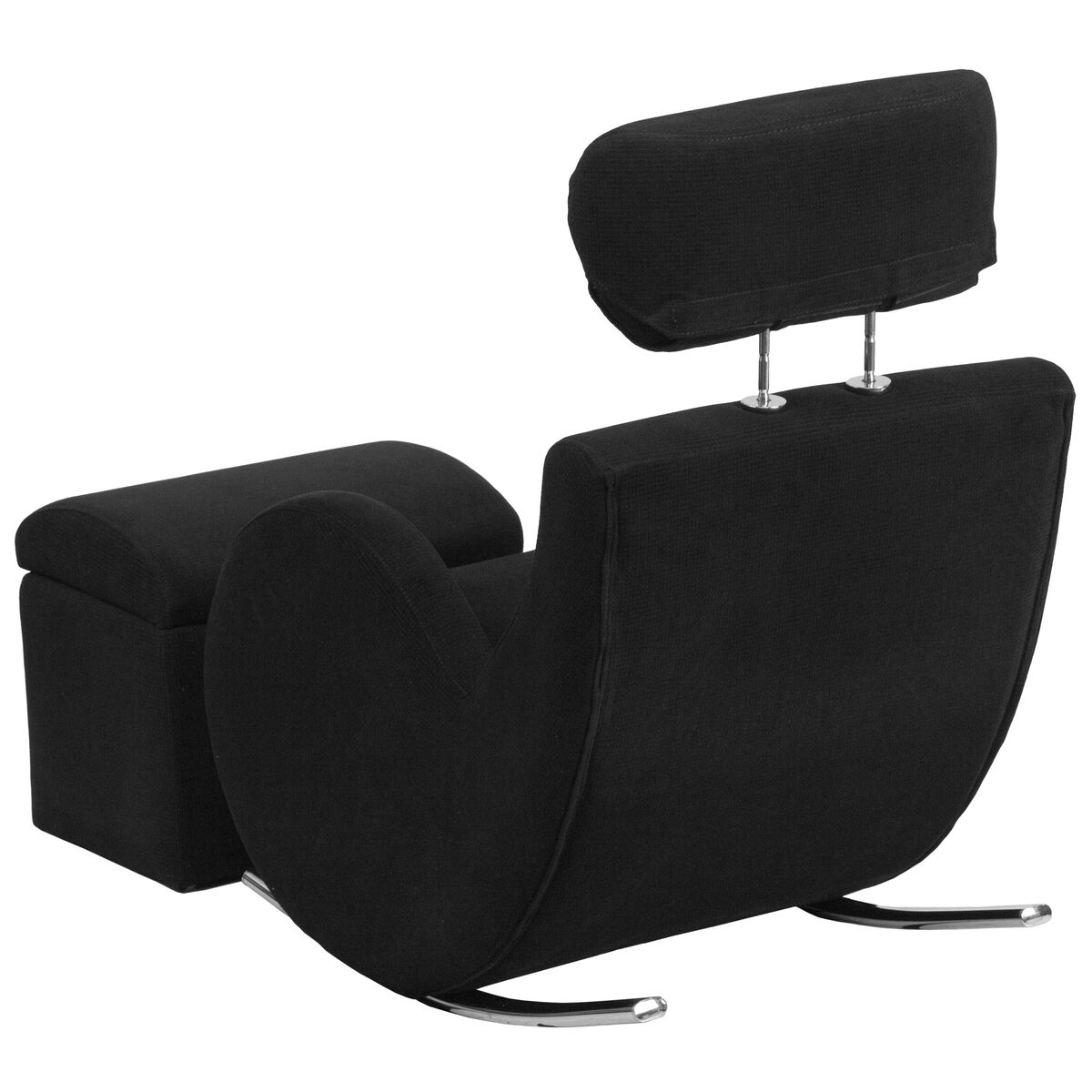 black fabric rocker storage ld 2025 bk gg churchchairs4less com