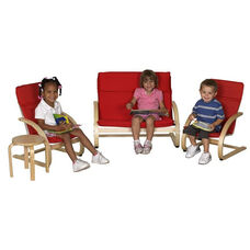 Birch 4 Piece Bentwood Comfort Living Room Set with 1.5