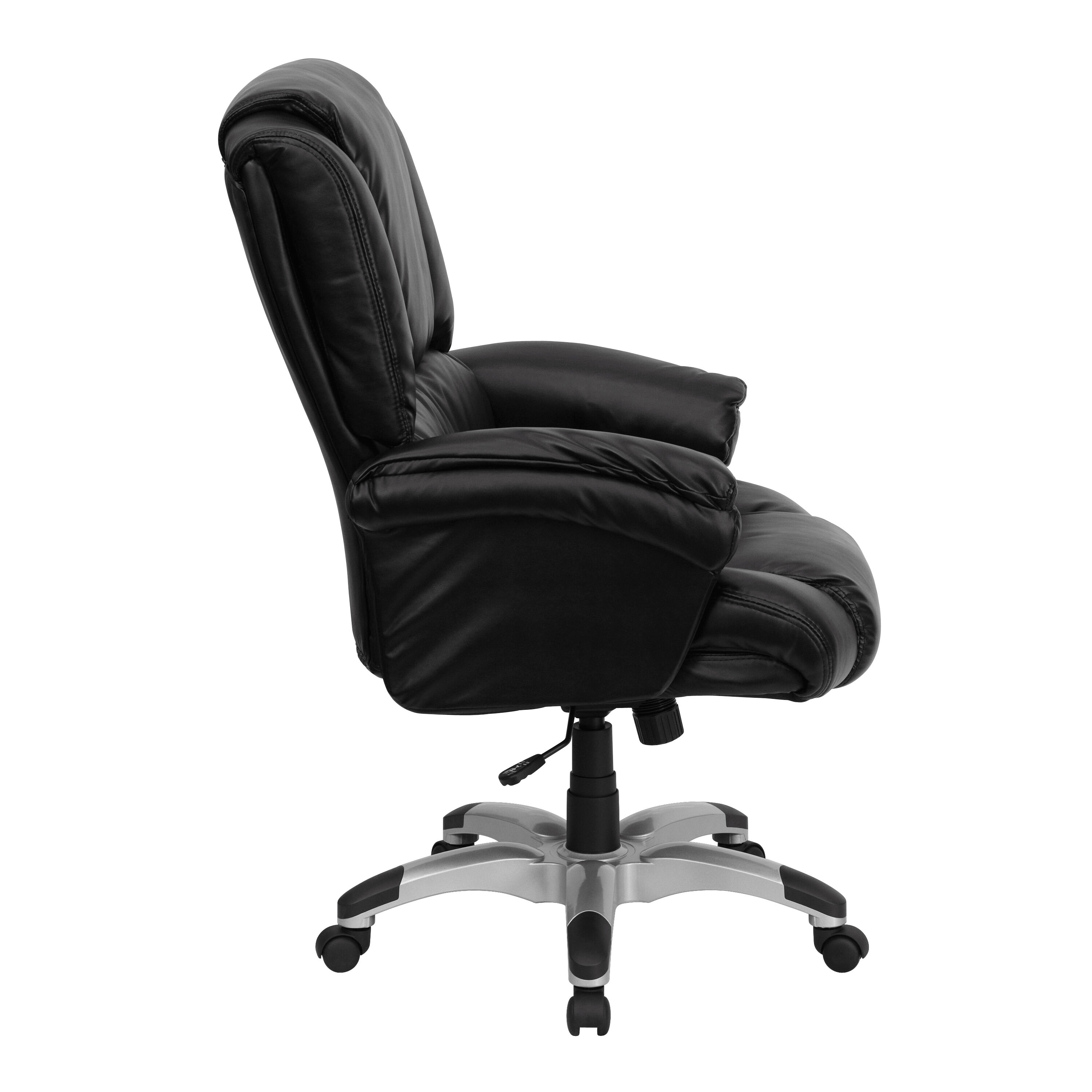 Superieur ... Our High Back Black Leather OverStuffed Executive Swivel Chair With  Fully Upholstered Arms Is On Sale ...