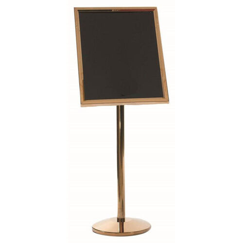 Dual Capability Neon Marker Board and Poster Holder - Brass Base and Frame - 53.5