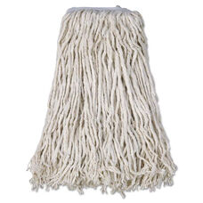 Boardwalk® Cotton Mop Head - Cut-End - #32 - White - 12/Carton