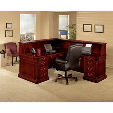 Keswick Left Reception L Desk - English Cherry