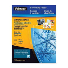 Fellowes Self-adhesv Letter 3mil Laminating Sheets
