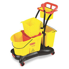 Rubbermaid® Commercial WaveBrake 35 Quart Mopping Trolley Side Press - Yellow