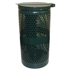 Steel Receptacle With Stainless Steel Lid