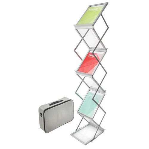 Our Collapsible Six Shelf Display Floor Stand with Case - Silver is on sale now.