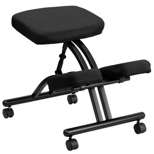 Our Mobile Ergonomic Kneeling Office Chair in Black Fabric is on sale now.