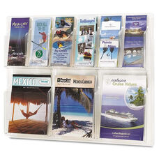 Safco® Reveal Clear Literature Displays - Nine Compartments - 30w x 2d x 22-1/2h - Clear