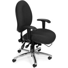 24 Hour Big & Tall Computer Task Chair - Black
