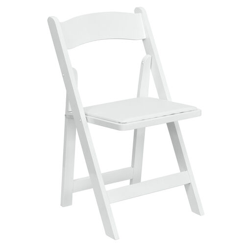 Our HERCULES Series White Wood Folding Chair with Vinyl Padded Seat is on sale now.