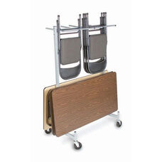 Compact Size Hanging Folded Chair and Table Storage Truck