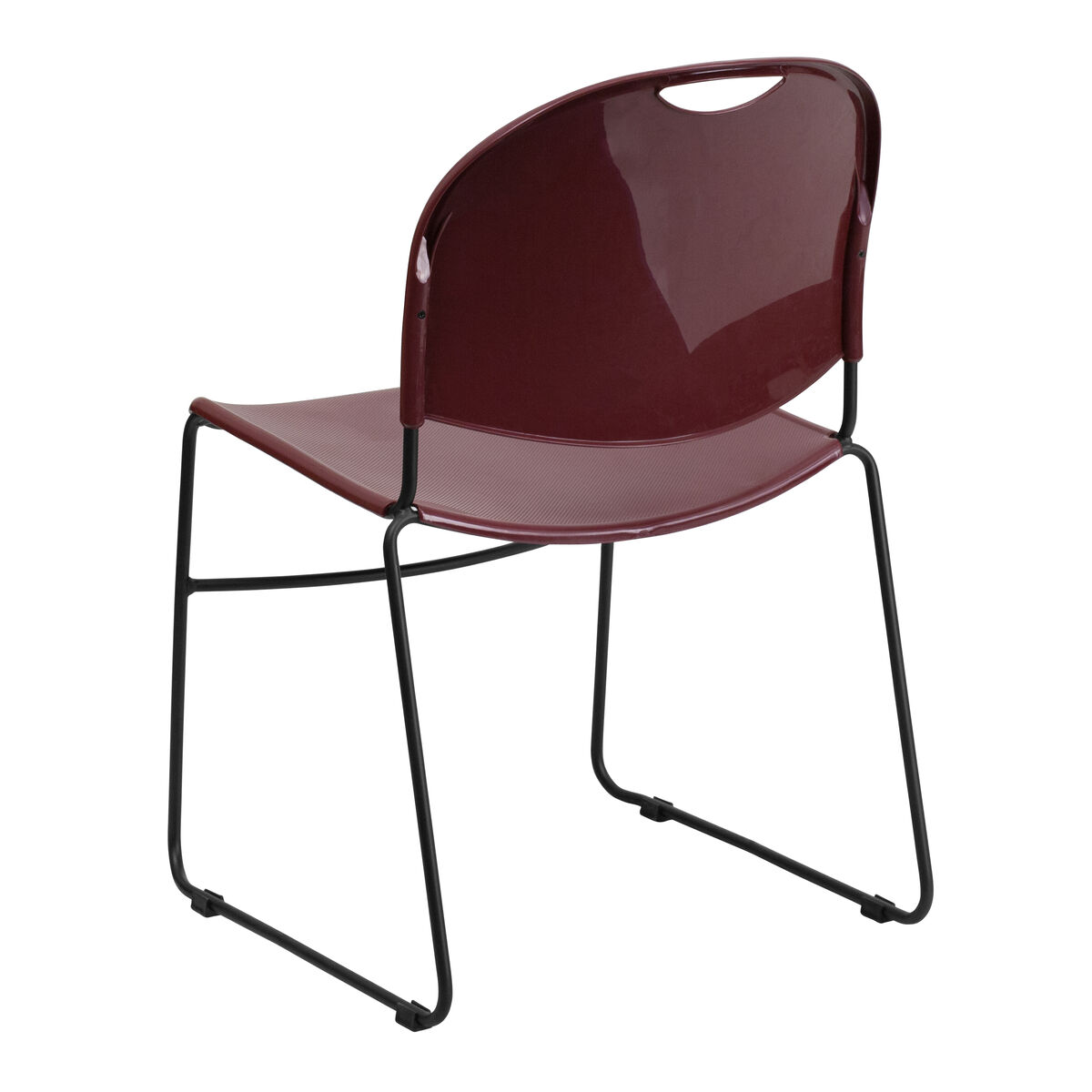 flash furniture hercules series 880 lb capacity burgundy ultra compact stack chair with black. Black Bedroom Furniture Sets. Home Design Ideas