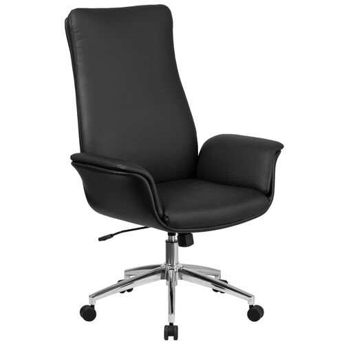 Our High Back Leather Executive Executive Swivel Chair with Flared Arms is on sale now.