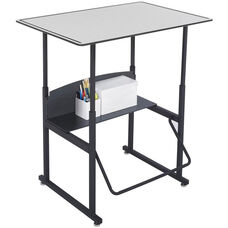 AlphaBetter® Desk with 36'' W x 24'' D Premium Top without Book Box - Gray Top with Black Frame