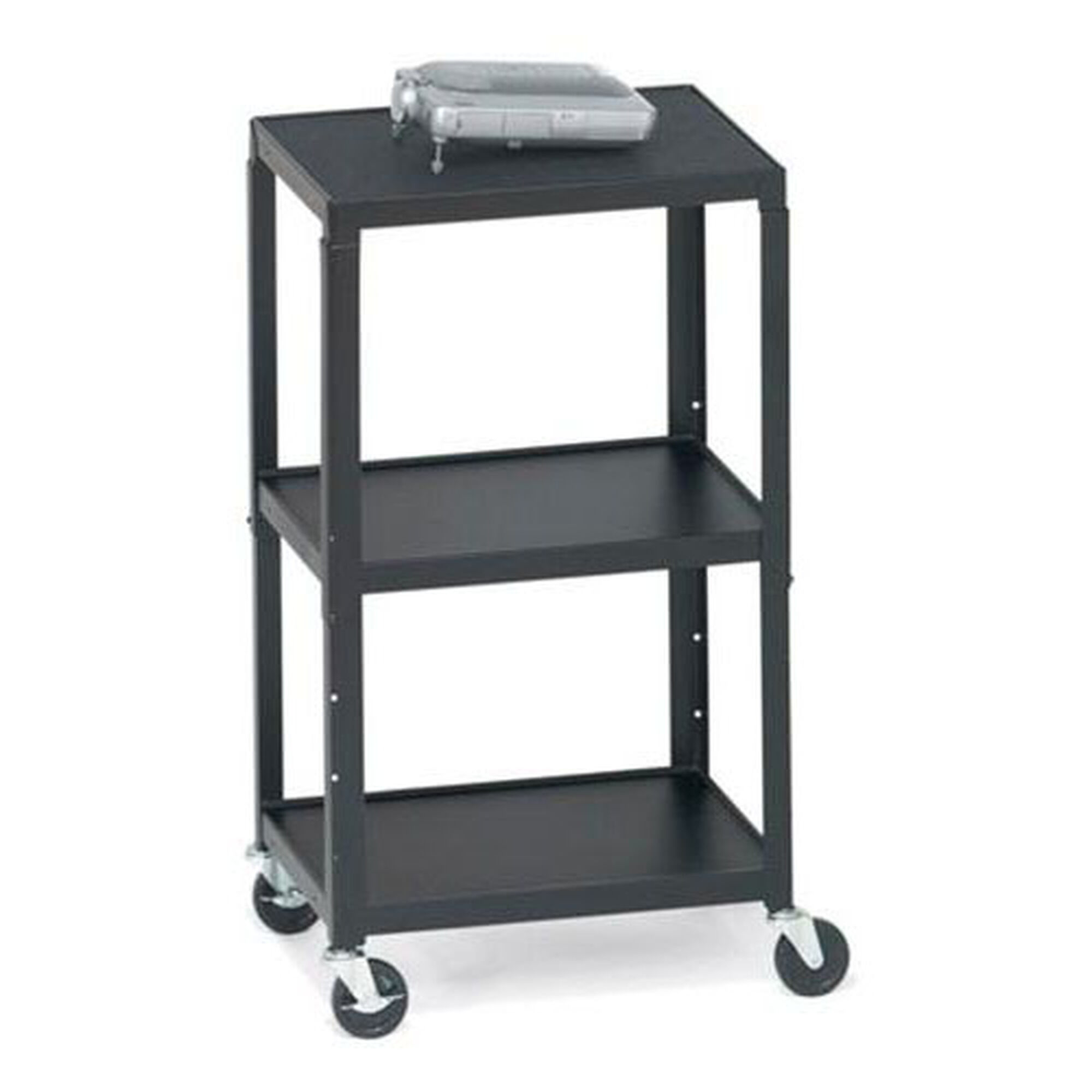 Bretford three shelf adjustable av cart with 5 39 39 wheels for Furniture 4 less outlet