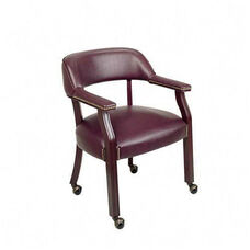 Lorell Berkeley Series Captain Chair with Casters