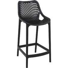 Air Modern Resin Outdoor Counter Stool - Black