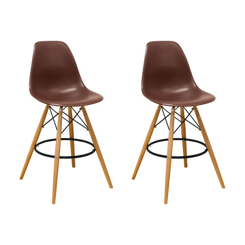 Our Paris Tower Barstool with Wood Legs and Chocolate Seat - Set of 2 is on sale now.