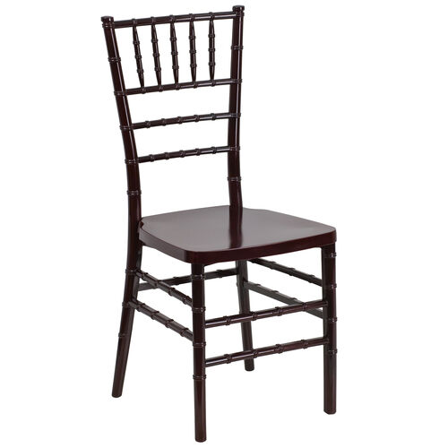 """Our HERCULES PREMIUM Series Mahogany Resin Stacking Chiavari Chair with <span style=""""color:#0000CD;"""">Free </span> Cushion is on sale now."""