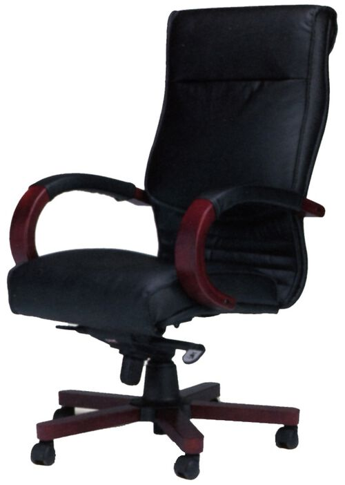 Our Corsica Black Leather Task Chair - Sierra Cherry on Cherry Veneer is on sale now.