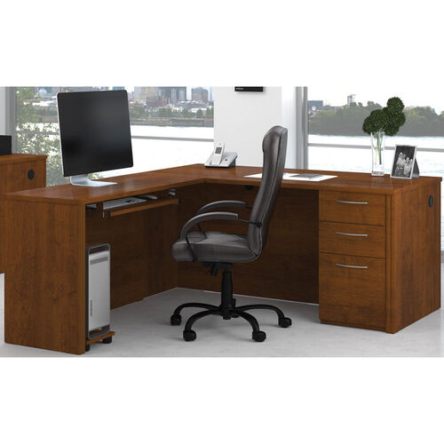 Our Embassy L-Shaped Assembly with Keyboard Shelf and Filing Drawer - Tuscany Brown is on sale now.