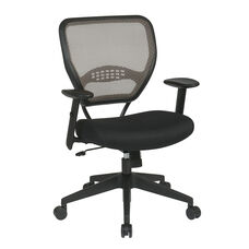 Space Air Grid Series Latte Air Grid Back Deluxe Task Chair with Mesh Seat - Latte