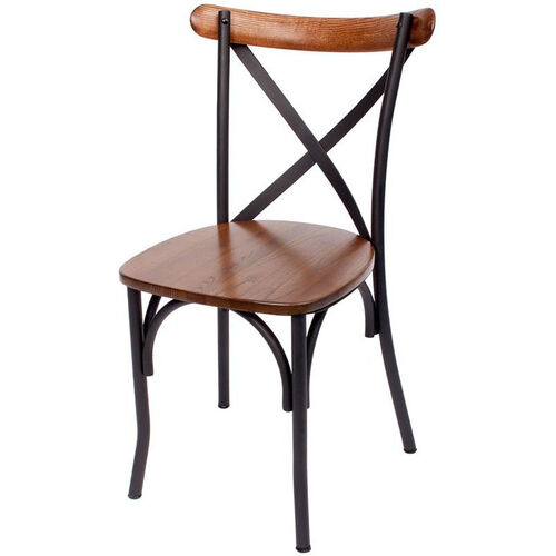 Our Henry Metal Cross Back Side Chair - Autumn Ash Wood Seat is on sale now.