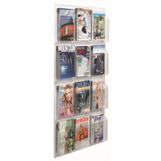 Clear-Vu Vertical Magazine and Literature Display - 12 Magazines