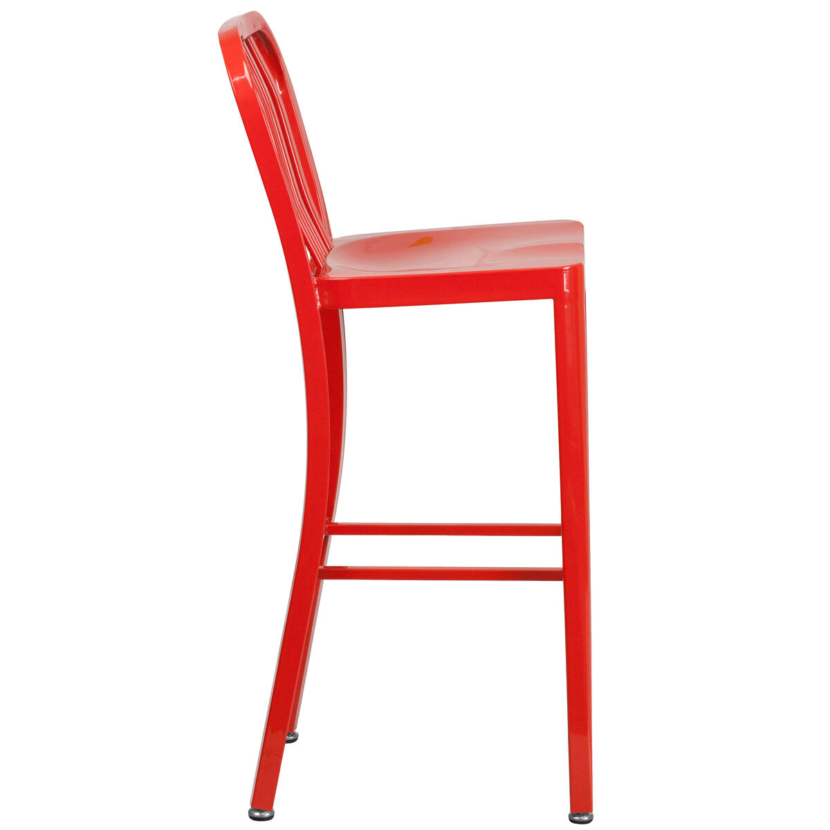 30 Red Metal Outdoor Stool Ch 61200 30 Red Gg Churchchairs4lesscom