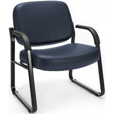 Big & Tall Guest and Reception Vinyl Chair with Arms - Navy