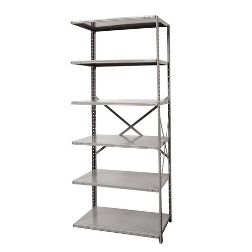 Our Hi-Tech Open Style 6 Adjustable Metal Shelving Add On Unit - Unassembled - Dark Gray - 48