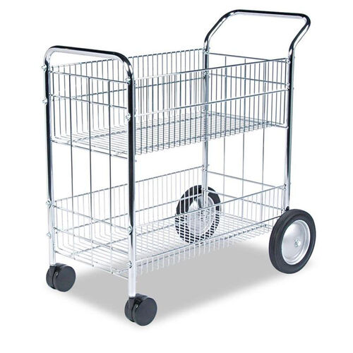 Our Fellowes® Wire Mail Cart - 21-1/2w x 37-1/2d x 39-1/4h - Chrome is on sale now.