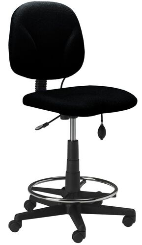 Our Comfort Series Quick Ship Swivel Task Stool with Twist and Lock Height Adjustable Footring - Black is on sale now.