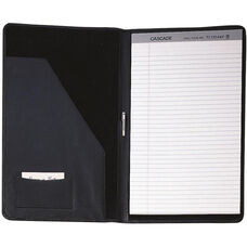 Legal Size Pad Holder - Top Grain Nappa Leather with Suede Lining - Black