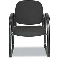 Alera® Reception Lounge Series Sled Base Guest Chair - Black Fabric