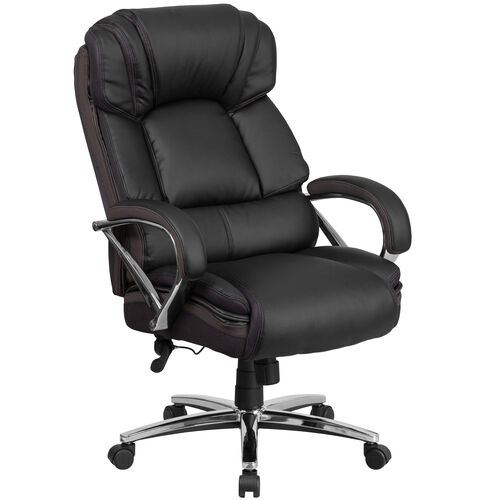 Our HERCULES Series Big & Tall 500 lb. Rated Black Leather Executive Swivel Ergonomic Office Chair with Chrome Base and Arms is on sale now.