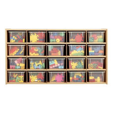 Young Time® 20-Tray Cubby Storage Unit with Clear Trays
