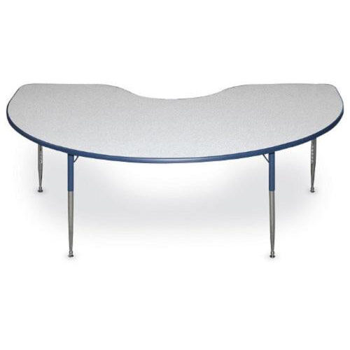 Kidney Shaped Particleboard Juvenile Activity Table - 48