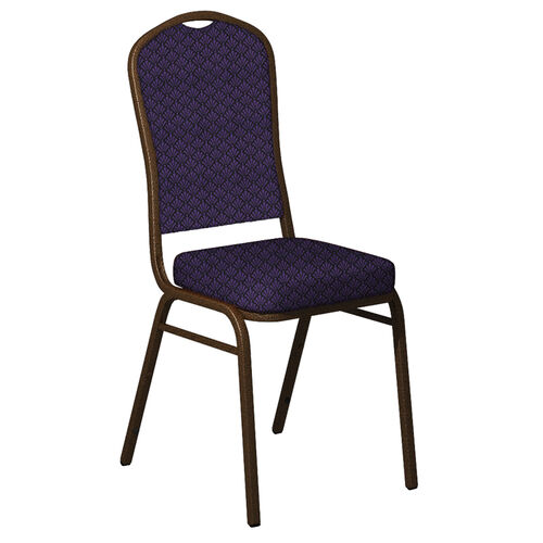Our Embroidered Crown Back Banquet Chair in Praise Grapevine Fabric - Gold Vein Frame is on sale now.