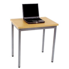 Steel Frame Rectangular Student Desk with Laminate Top and PVC Edge - 28