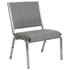 HERCULES Series 1500 lb. Rated Gray Antimicrobial Fabric Bariatric Chair with Silver Vein Frame