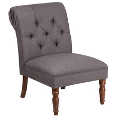 HERCULES Elm Park Series Gray Fabric Tufted Chair